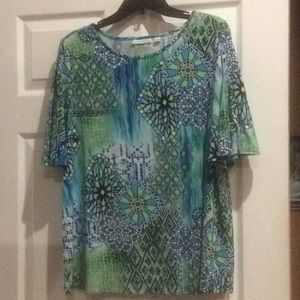 Top, Susan Graver size L signature knit
